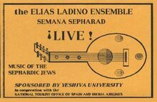 The Elias Ladino Ensemble Vol 1 - Semana Sepharad Live