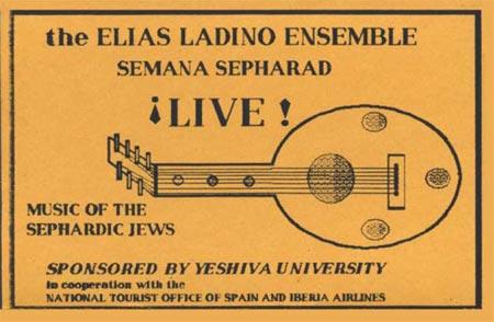 The Elias Ladino Ensemble Vol 1 - Semana Sepharad Live